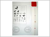 斜視訓練用のフレミングカード、融像カード・赤フィルター・三点カード